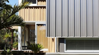 Parnell, Auckland - Nikau House - architecture   architecture, building, elevation, facade, home, house, property, real estate, residential area, siding, gray, black