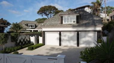Garage - building | cottage | elevation | building, cottage, elevation, estate, facade, home, house, property, real estate, residential area, roof, villa, window, gray
