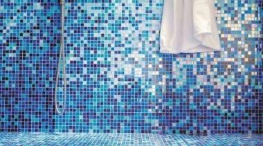 Gladiolo wall. - Bisazza Range - azure | azure, blue, floor, flooring, mosaic, pattern, purple, textile, tile, wall, teal