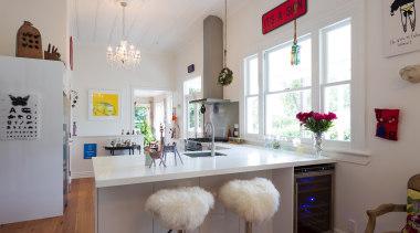 desingatek gloss, corian benchtop, art - Mak kitchen furniture, home, interior design, kitchen, real estate, room, table, gray