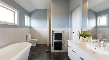 Landmark Homes Boulevard Design Ensuite - Landmark Homes architecture, bathroom, interior design, real estate, room, gray