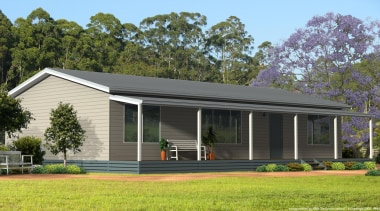 14.4 m x 8.0 mBedrooms: 3Bathrooms: 2Home: 115.2 cottage, elevation, estate, facade, farmhouse, home, house, landscape, porch, property, real estate, residential area, siding