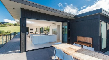 Pictured: Pataua Residence – Mark McLeay & Mark architecture, home, house, property, real estate, roof