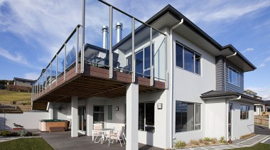 Two-storey home featuring Plaster and Linea weatherboard home building, cottage, elevation, facade, home, house, property, real estate, residential area, siding, teal