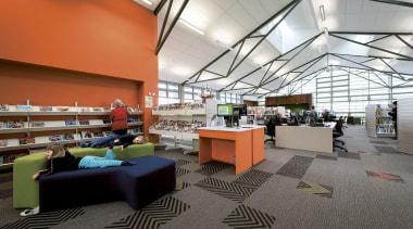 MERIT WINNERWellsford War Memorial Library (1 of 4) daylighting, institution, interior design, library, public library, gray