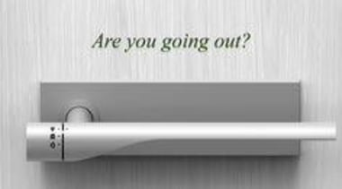 A Door Handle That Automatically Turns Off Electricity hardware accessory, product design, white