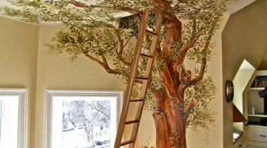 Creative and unique children's bedrooms - Amazing Kids' ceiling, home, interior design, living room, room, tree, wood, brown