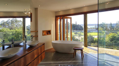 Winner Bathroom Design of the Year ACT Sthn architecture, bathroom, estate, home, house, interior design, real estate, room, window, brown