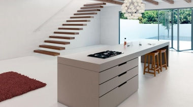 Sleek Concrete™ encapsulates the look and feel of desk, furniture, interior design, product, product design, table, white
