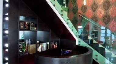 Black and red foyer - Foyer - architecture architecture, design, glass, interior design, lobby, product design, black, gray