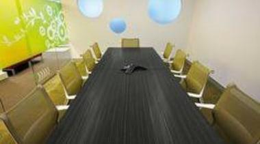 Table featuring Melteca Blackened Linewood. - Table featuring floor, flooring, furniture, interior design, table, black
