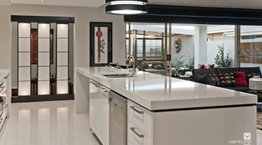 Kitchen design with Japanese influence. - The Dynasty countertop, interior design, kitchen, real estate, gray