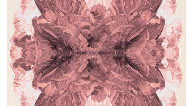 The Poppy Day wallhanging is inspired by macro design, flower, petal, pink, white, pink