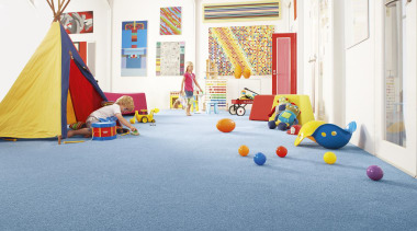 Blue carpets in a child's room. - Play floor, flooring, leisure, play, room, sport venue, teal, white