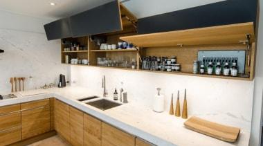 Pepper Design - TEAM7 kitchen with Natural Oak countertop, cuisine classique, interior design, kitchen, white