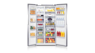 Refrigerator – Side By Side – SRS583NLSThe new home appliance, major appliance, product, product design, refrigerator, white