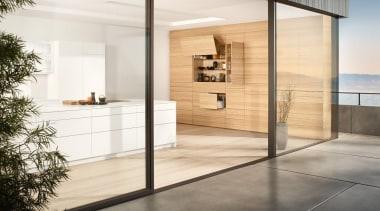 134 One topic. Three applications. Four motion technologies.Infinite architecture, door, floor, flooring, interior design, white