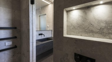 Davinia Sutton and Sam Lawrence of Detail by architecture, floor, interior design, black, gray