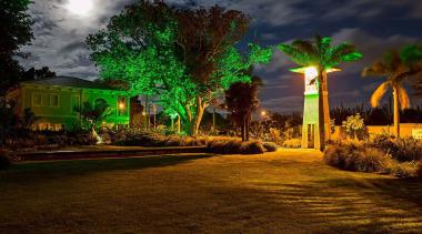NOMINEEKensington Park (3 of 4) - Arrow International architecture, arecales, estate, evening, grass, landscape, landscape lighting, lighting, nature, night, palm tree, plant, sky, tree, brown