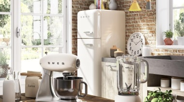 Cream 50's style small appliance collection - Cream home, interior design, kitchen, small appliance, white, brown