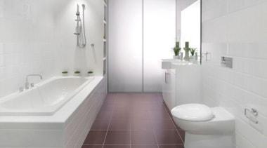 Caroma Leda Invisi II Suite: Caroma Invisi II bathroom, bathroom accessory, bathroom cabinet, bathroom sink, bidet, floor, interior design, plumbing fixture, product design, property, room, tap, tile, toilet seat, white, gray