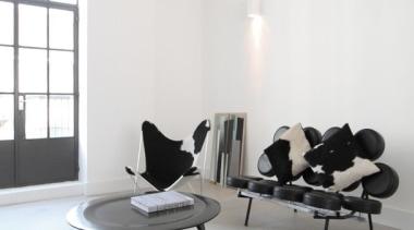 367 Concreate white house - 367_Concreate_white_house - chair chair, floor, flooring, furniture, interior design, living room, product design, table, white