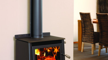 Metro Fires Wee Rad 15kW Wood Fire - fireplace, hearth, heat, home appliance, stove, wood burning stove, white