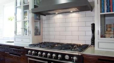 Grand Old Auckland Villa - Grand Old Auckland cabinetry, countertop, cuisine classique, flooring, home appliance, interior design, kitchen, kitchen appliance, kitchen stove, oven, room, gray, black
