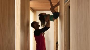 Coromandel, New Zealand - Studio 19 Onemana Bach door, floor, flooring, furniture, hardwood, house, interior design, room, standing, wood, brown