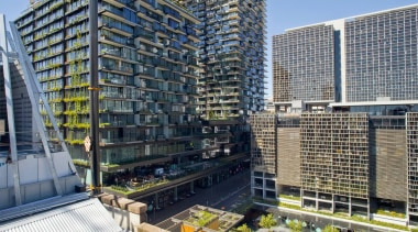 Sydney's One Central Park has been named Asia apartment, building, city, commercial building, condominium, corporate headquarters, headquarters, metropolis, metropolitan area, mixed use, neighbourhood, real estate, skyscraper, tower block, urban area, gray, black