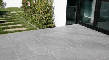 Granite grey exterior tile. - Blue Mountian Range asphalt, driveway, flagstone, floor, flooring, grass, property, road surface, tile, walkway, wall, gray