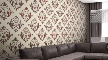 Aurora Range - Aurora Range - angle | angle, ceiling, couch, interior design, living room, pattern, wall, wallpaper, white, black