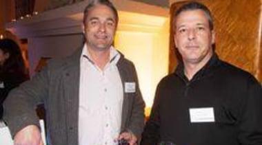 Jason Gerrand and Jean-Marc Colomar (JCY Architects) drink, event, socialite, black