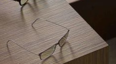 Styling Wendy Bannister. Photography Earl Carter - Laminex eyewear, floor, furniture, glasses, plywood, product design, table, vision care, wood, wood stain, gray