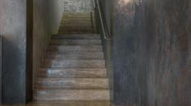 Oxide Collection by Laminam by Crossville - Oxide floor, flooring, stairs, wood, wood flooring, black, gray
