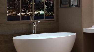 Trenz 02 - bathroom | bathtub | ceramic bathroom, bathtub, ceramic, floor, flooring, interior design, plumbing fixture, tap, black, brown