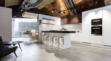 Concreate CF101 PoggenPohl 29 - Concreate_CF101_PoggenPohl_29 - countertop countertop, cuisine classique, floor, flooring, interior design, kitchen, loft, wood flooring, gray