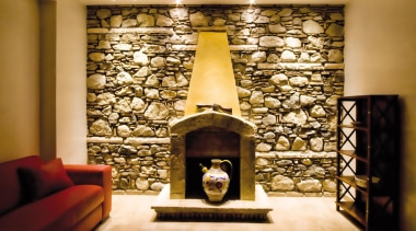 LED Lights - ceiling | fireplace | hearth ceiling, fireplace, hearth, interior design, living room, lobby, wall, orange, brown