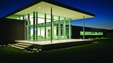 KEV0350 - KEV0 350 - architecture   commercial architecture, commercial building, corporate headquarters, facade, home, house, lighting, night, structure, black