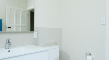 The bathroom renovations by us are complete, we architecture, bathroom, bathroom accessory, bathroom sink, daylighting, floor, home, interior design, plumbing fixture, property, real estate, room, sink, tap, white