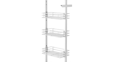 Giamo Short Pull Out Pantry Unit with Chromed furniture, product, product design, shelving, structure, white