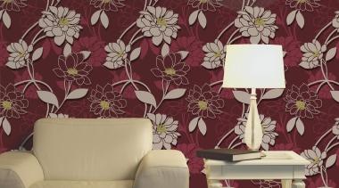 Statements Range decor, design, interior design, living room, pattern, purple, wall, wallpaper, red, gray