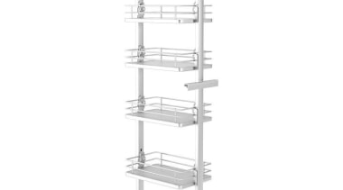 Giamo Medium Pull Out Pantry Unit with Solid furniture, line, product, product design, shelving, structure, white