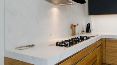 Pepper Design - Team 7 Kitchen - cabinetry cabinetry, countertop, cuisine classique, floor, interior design, kitchen, room, sink, tap, wood, gray, brown