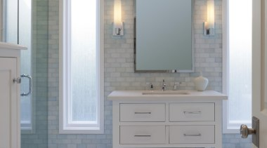bathroom 01.jpg - bathroom_01.jpg - bathroom | bathroom bathroom, bathroom accessory, bathroom cabinet, cabinetry, floor, flooring, hardwood, home, interior design, room, sink, tile, wall, wood stain, gray