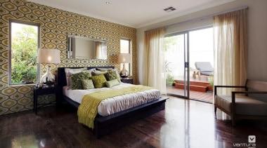 Master ensuite design. - The Spectrum Display Home bed frame, bedroom, ceiling, estate, floor, home, interior design, living room, property, real estate, room, suite, wall, window, wood, gray