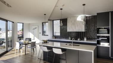 Paul Brown Architects – TIDA New Zealand architecture, countertop, cuisine classique, interior design, kitchen, real estate, gray