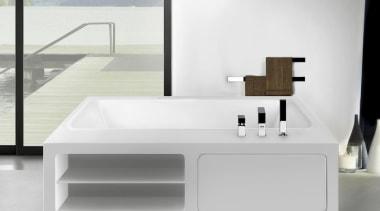 For unlimited freedom in bathroom design, Gessi North angle, bathroom, bathroom accessory, bathroom cabinet, bathroom sink, bathtub, plumbing fixture, product, sink, tap, white