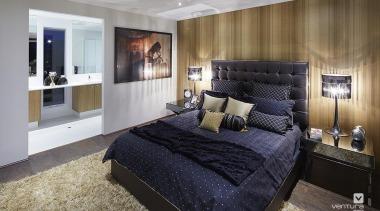 Master Ensuite Design. - The Allure Display Home bed frame, bedroom, ceiling, home, interior design, property, real estate, room, suite, wall, gray, black