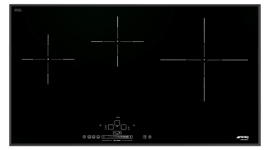 Smeg has a new induction cooktop collection with area, line, product design, technology, black